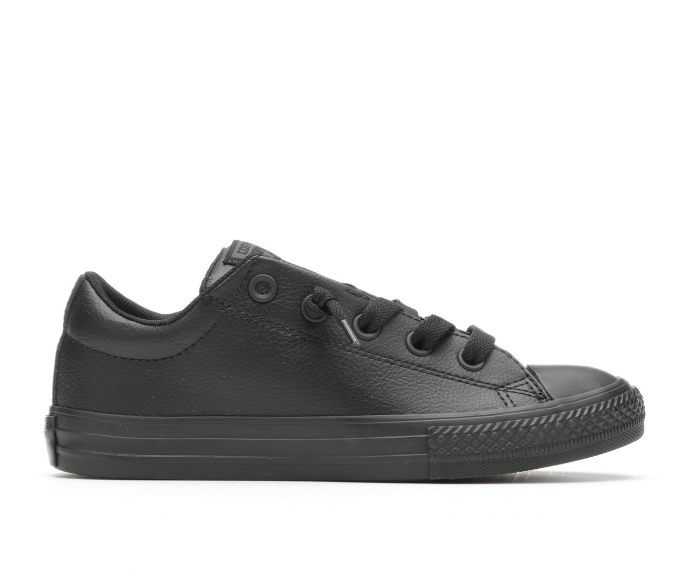 Girls' Converse CTAS Street Slip Leather Sneakers (Black)