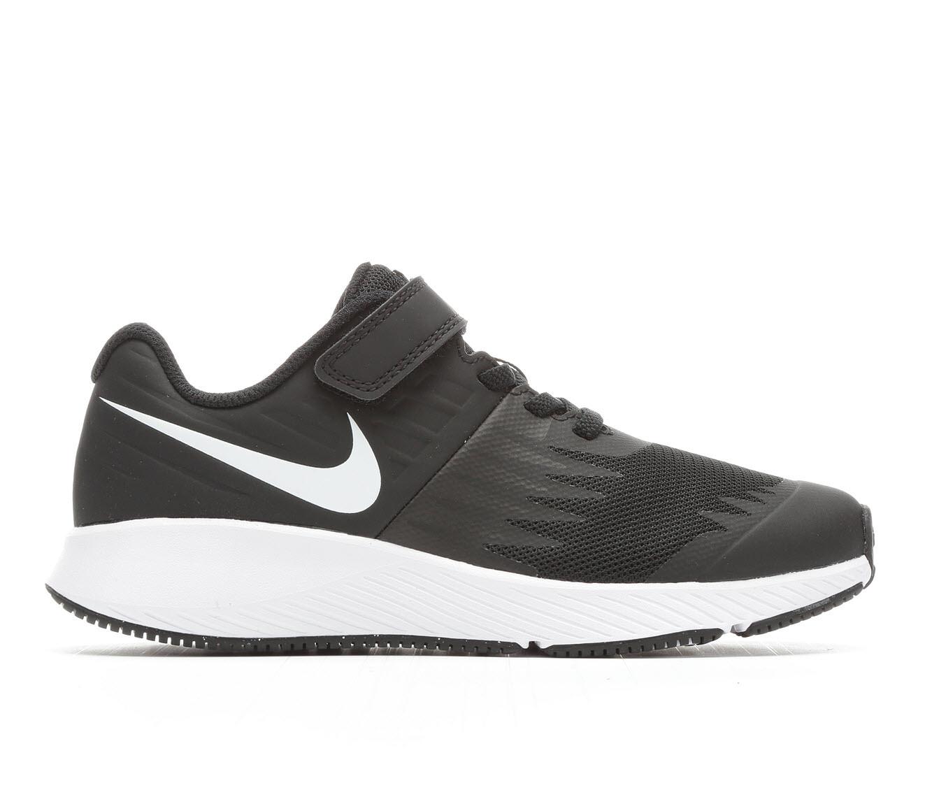 Boys' Nike Star Runner PS Velcro Running Shoes (Black)