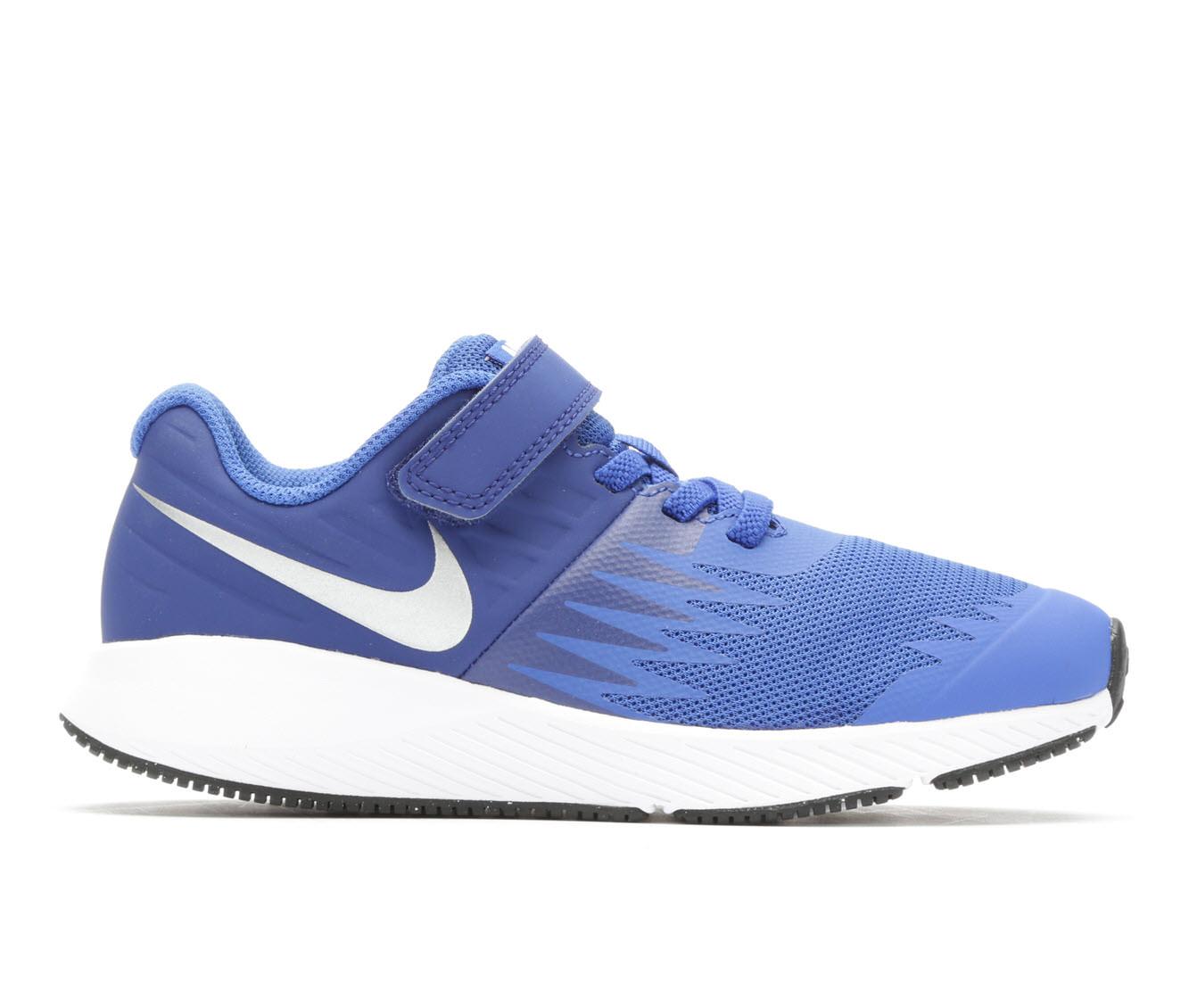Boys' Nike Star Runner PS Velcro Running Shoes (Blue)