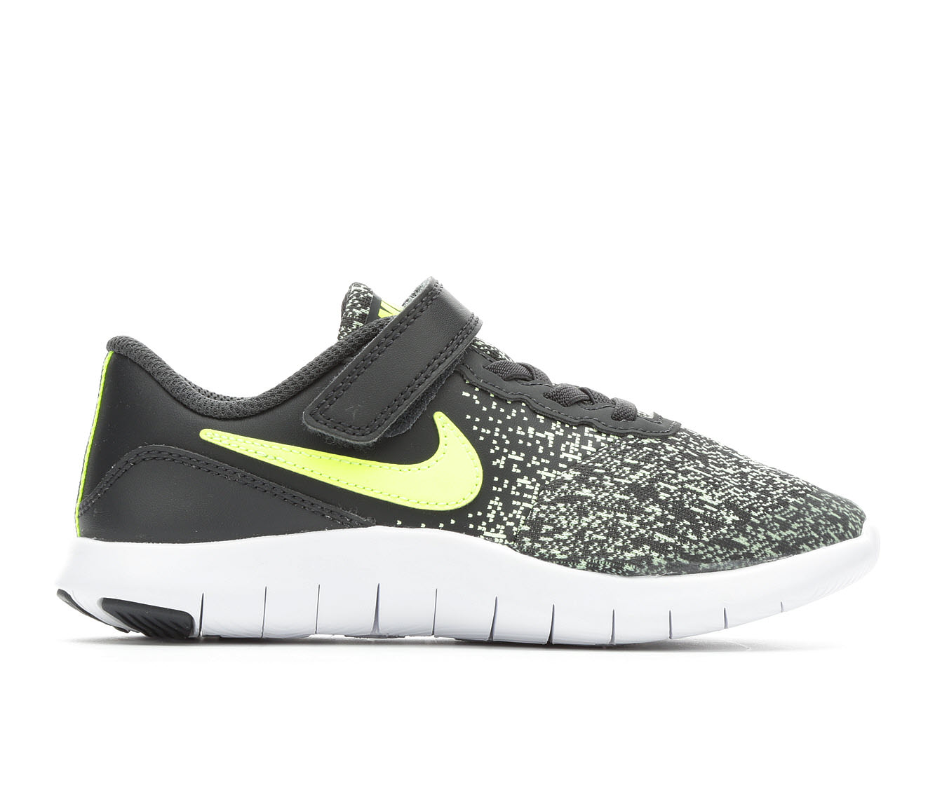 Boys' Nike Flex Contact Velcro Running Shoes (Grey)