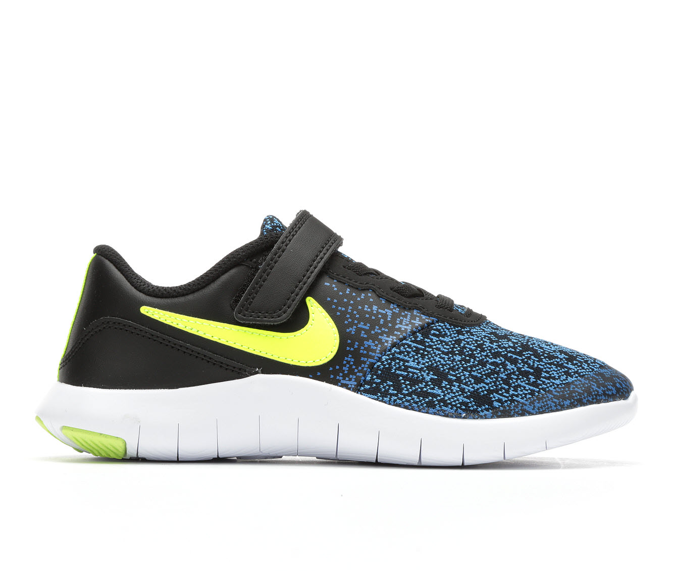 Boys' Nike Flex Contact Velcro Running Shoes (Blue)