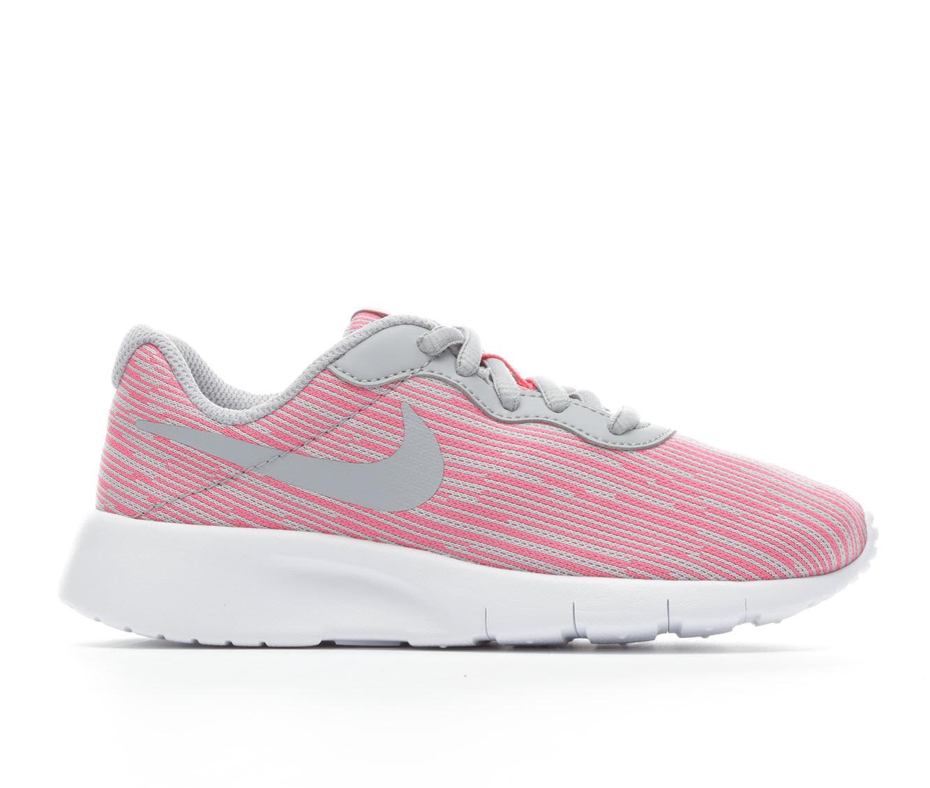 Girls' Nike Tanjun SE Running Shoes (Grey)