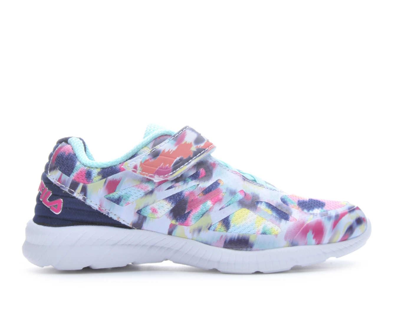 Girls' Fila Speedstride Velcro Running Shoes (Multicolor)