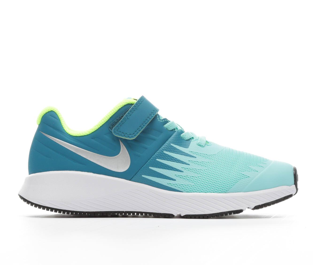 Girls' Nike Star Runner Velcro Running Shoes (Blue)