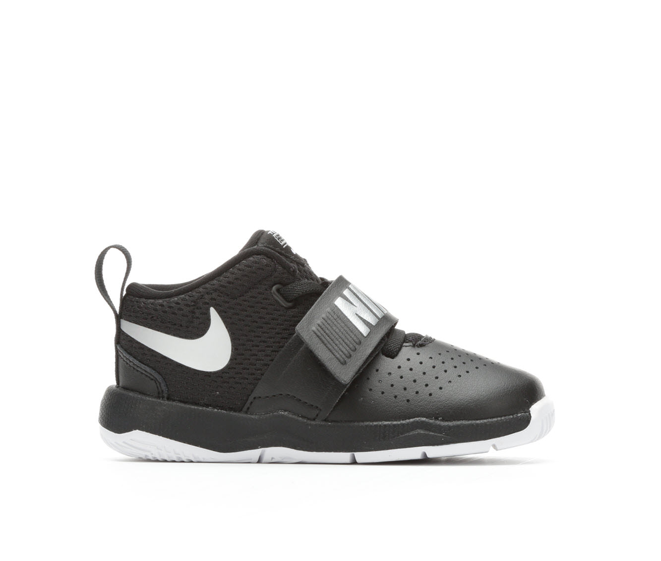Boys' Nike Infant Team Hustle D8 Basketball Shoes (Black)