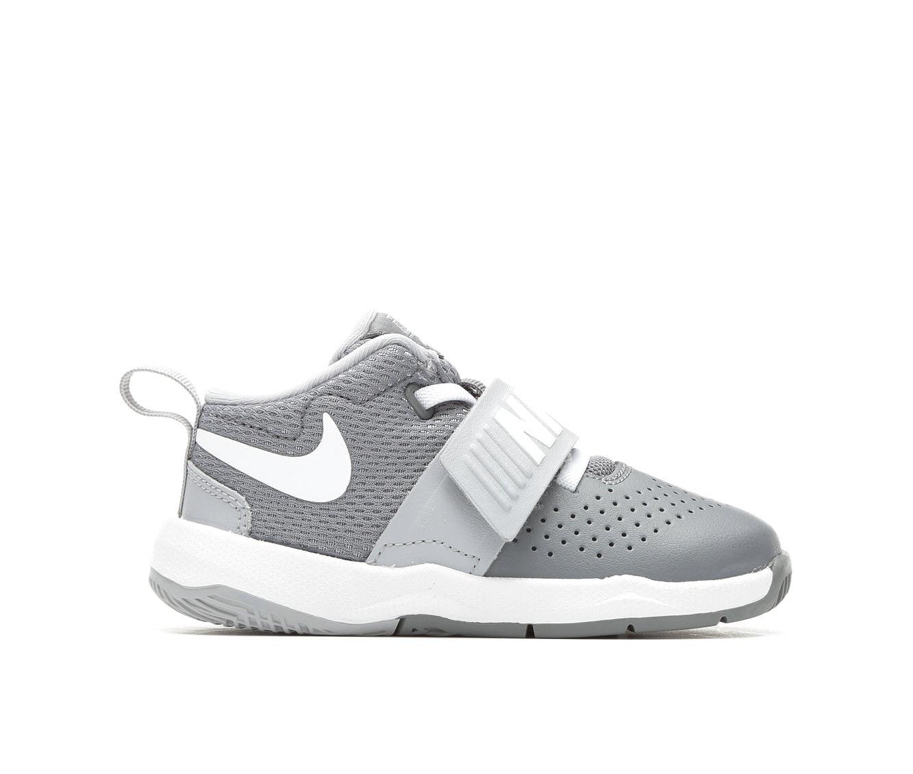 Boys' Nike Infant Team Hustle D8 Basketball Shoes (Grey)