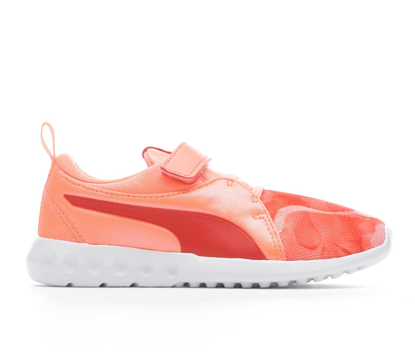 Girls' Puma Carson Print Running Shoes (Orange)