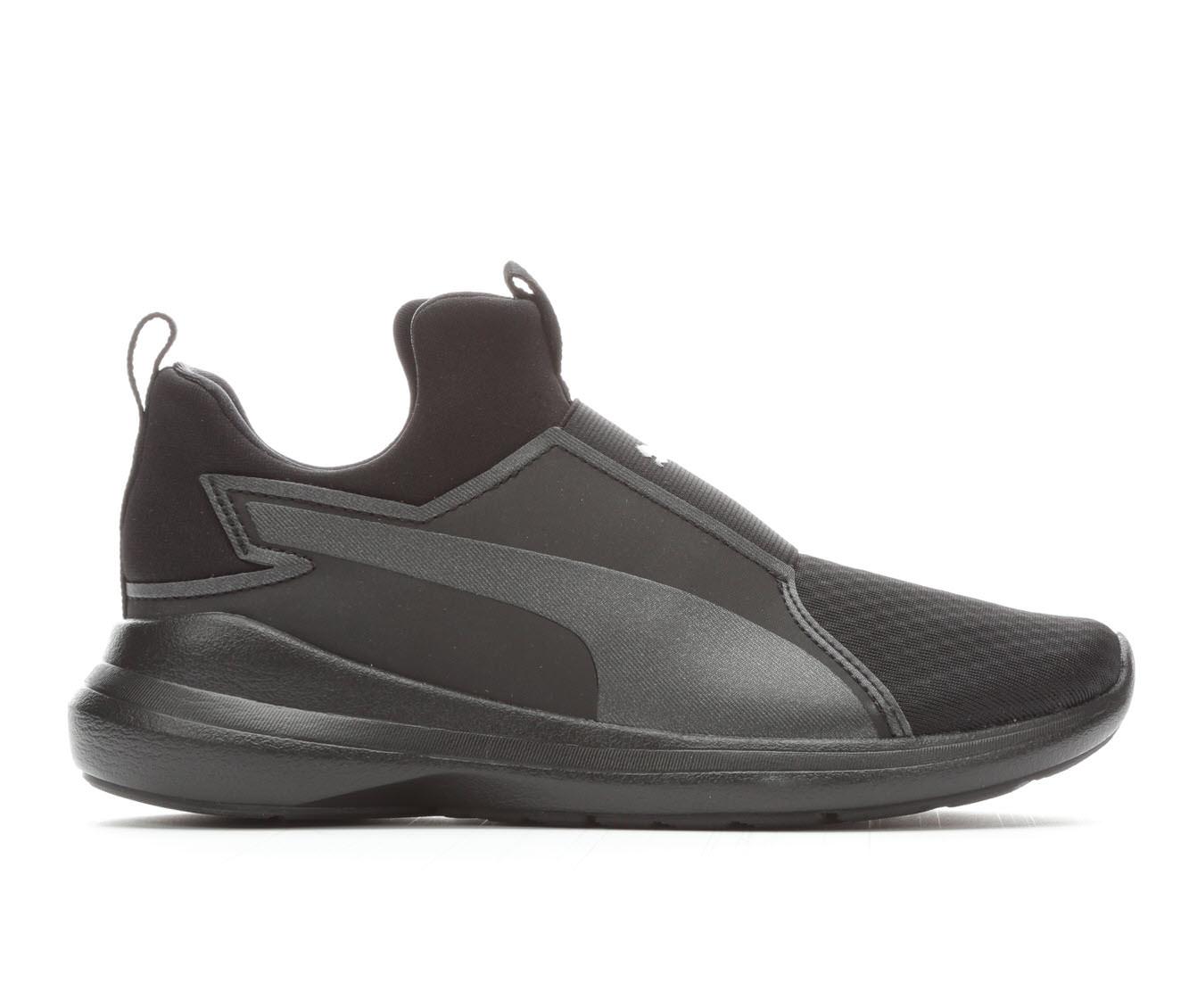 Girls' Puma Rebel Mid JR Training Shoe (Black)