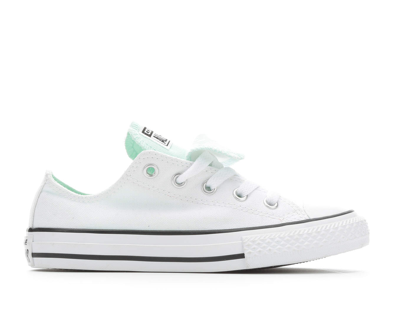 Girls' Converse CTAS Double Tongue Ox Sneakers (White)