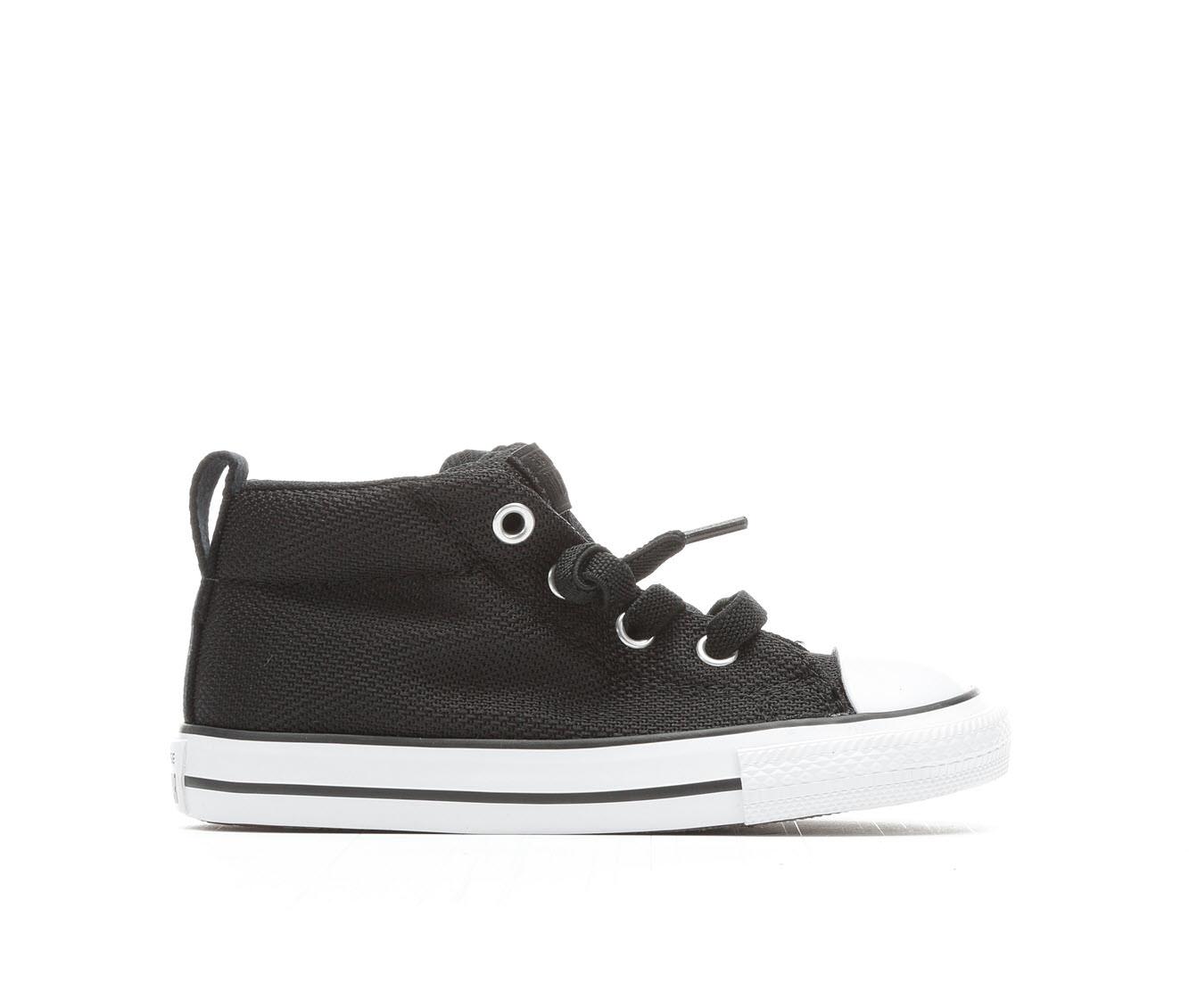 Girls' Converse Infant Street Mid Basketweave Sneakers (Black)