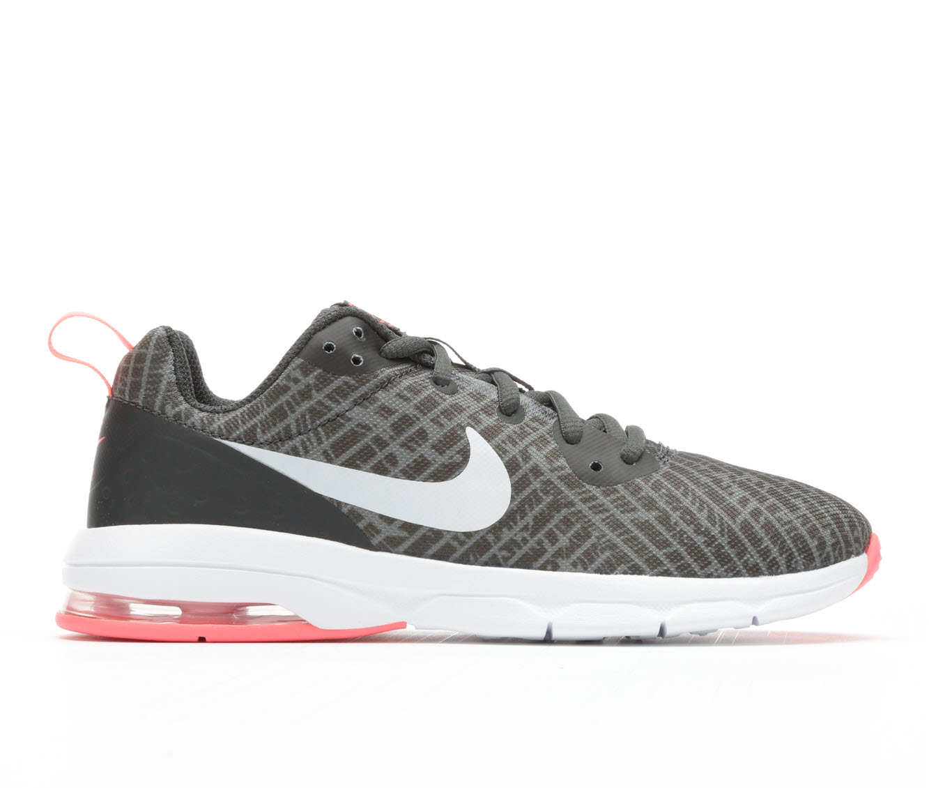 Girls' Nike Air Max Motion Low Print Running Shoes (Grey)
