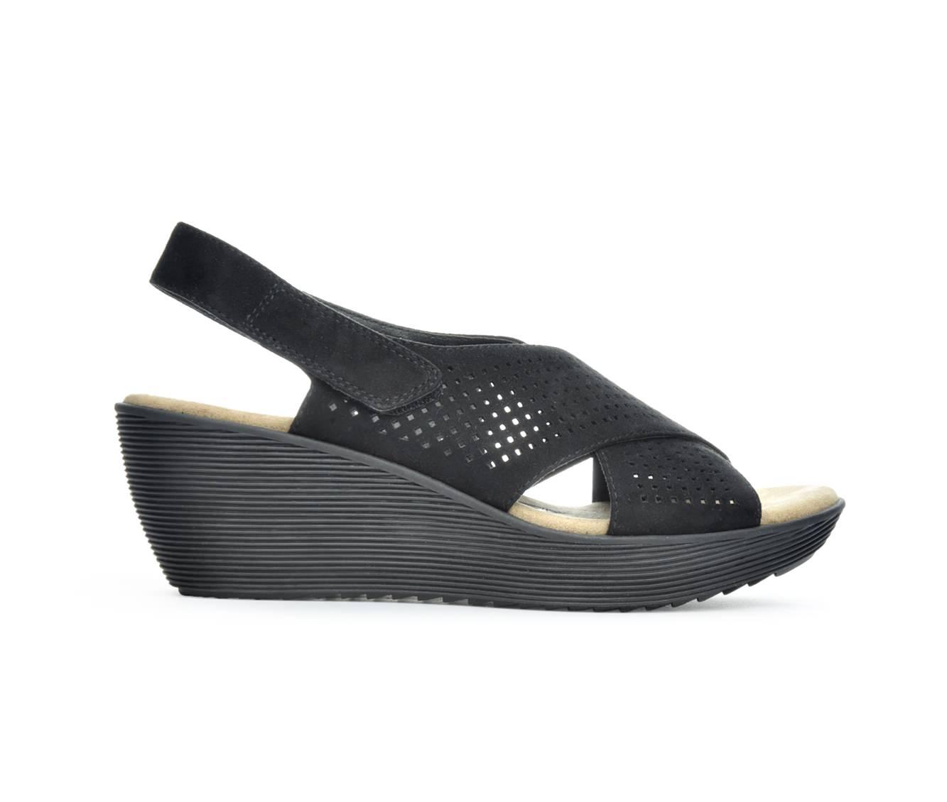 Women's Axxiom Tigris Wedge Sandals (Black)