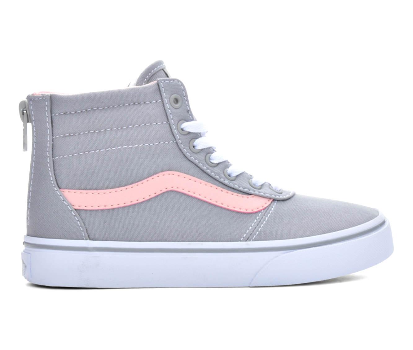 Girls' Vans Maddie Hi Zip Sneakers (Grey)