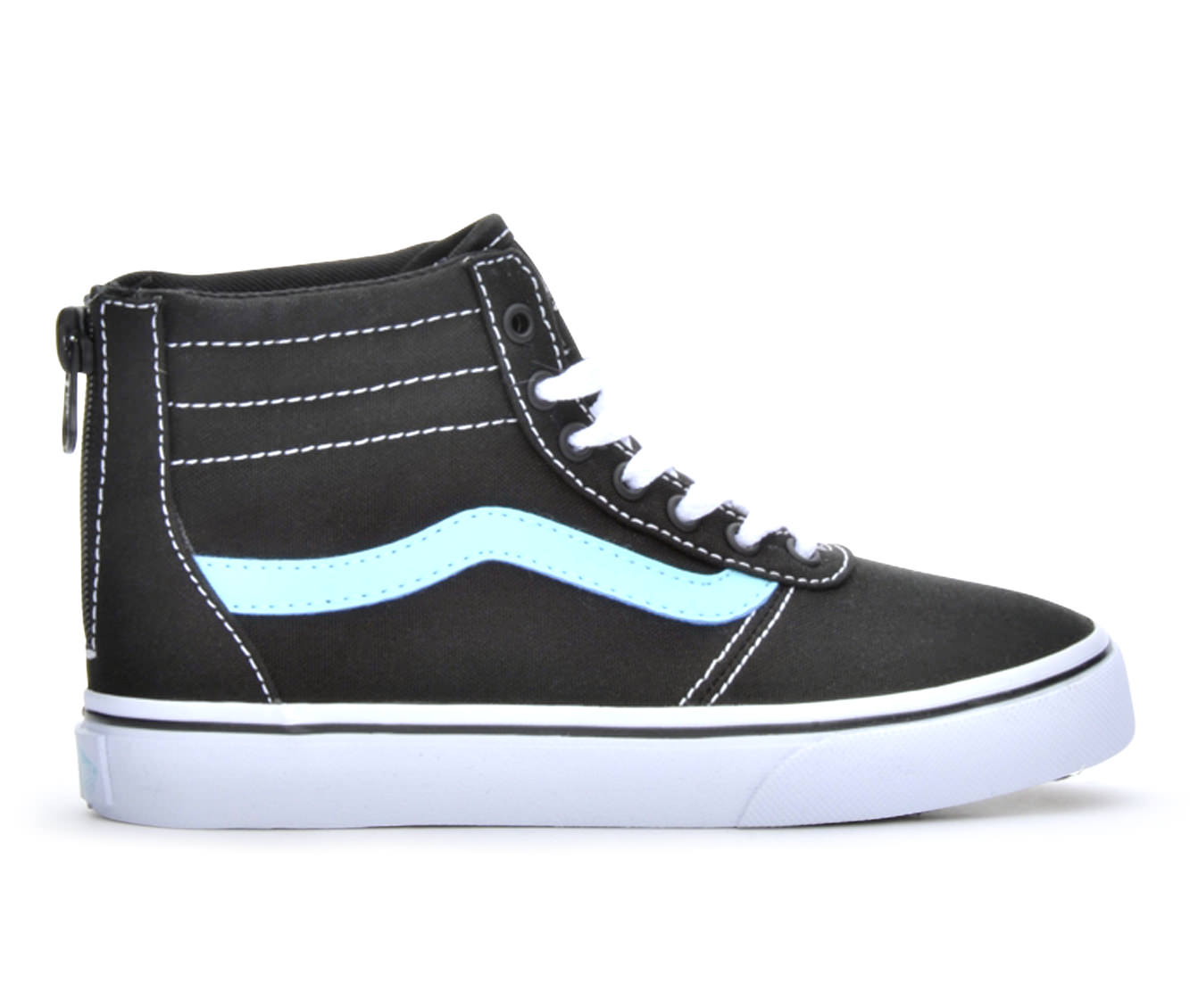 Girls' Vans Maddie Hi Zip Sneakers (Black)