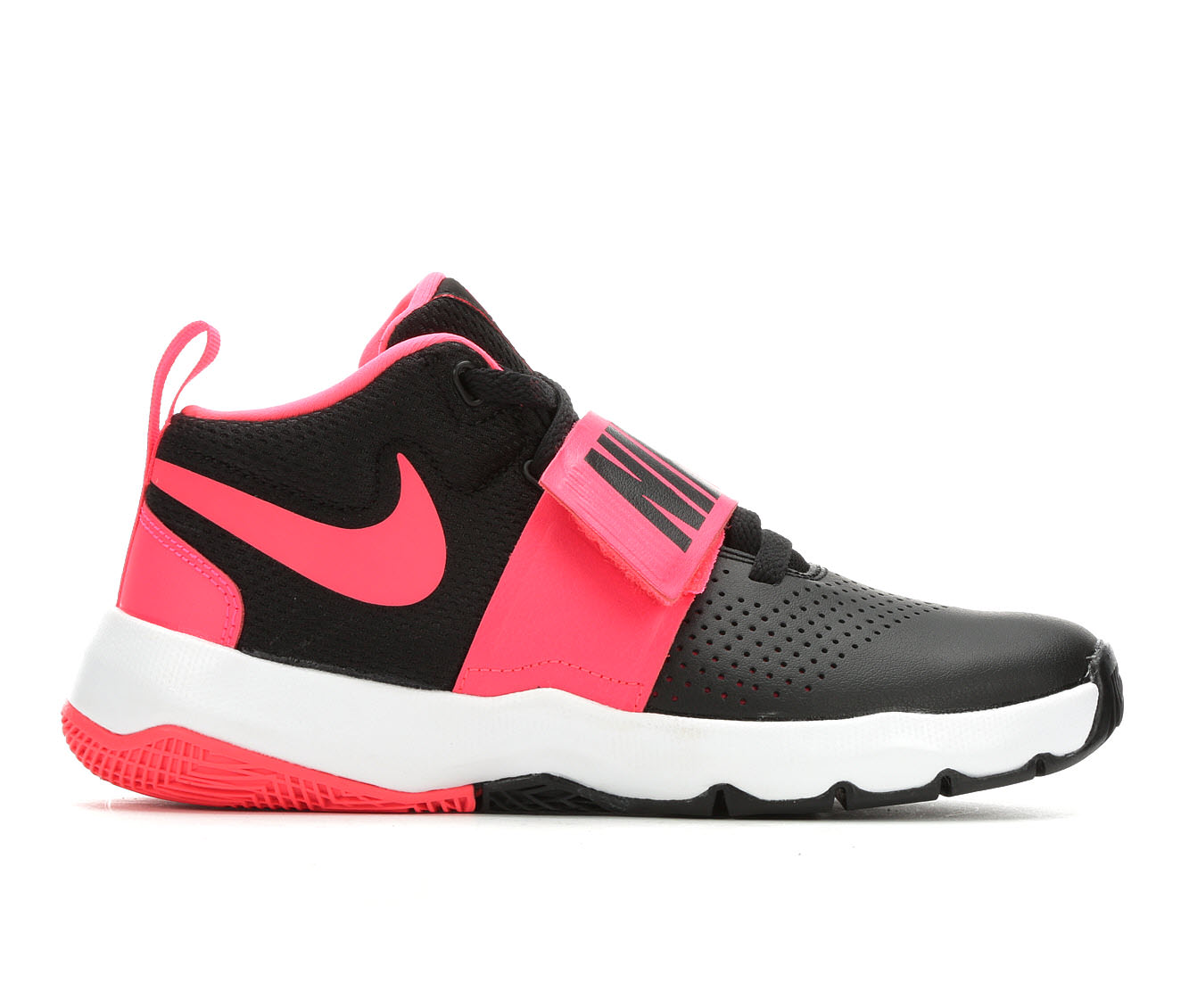 Girls' Nike Team Hustle D8 Basketball Shoes (Black)