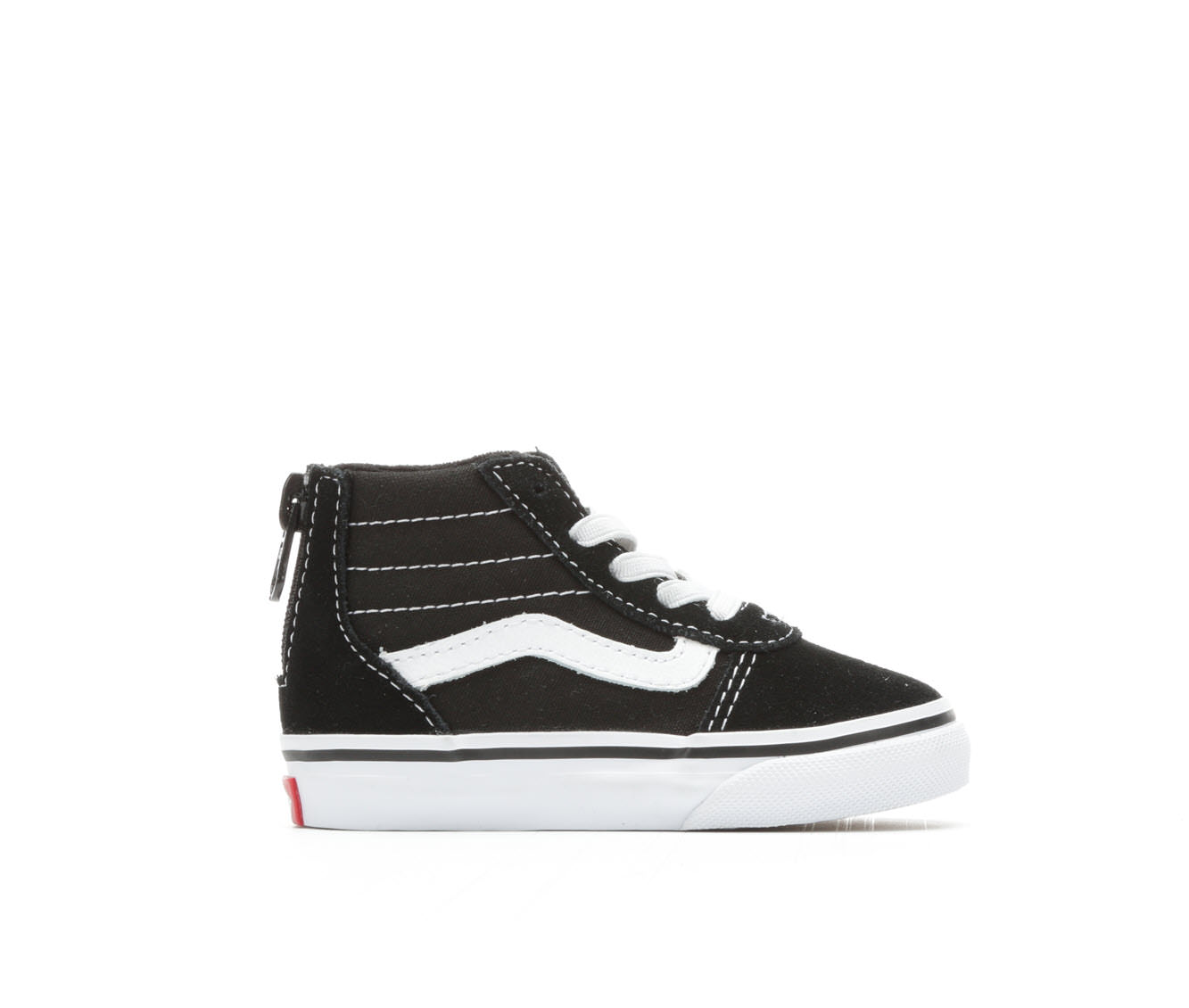 Girls' Vans Infants Ward Hi Zip Skate Shoes (Black)