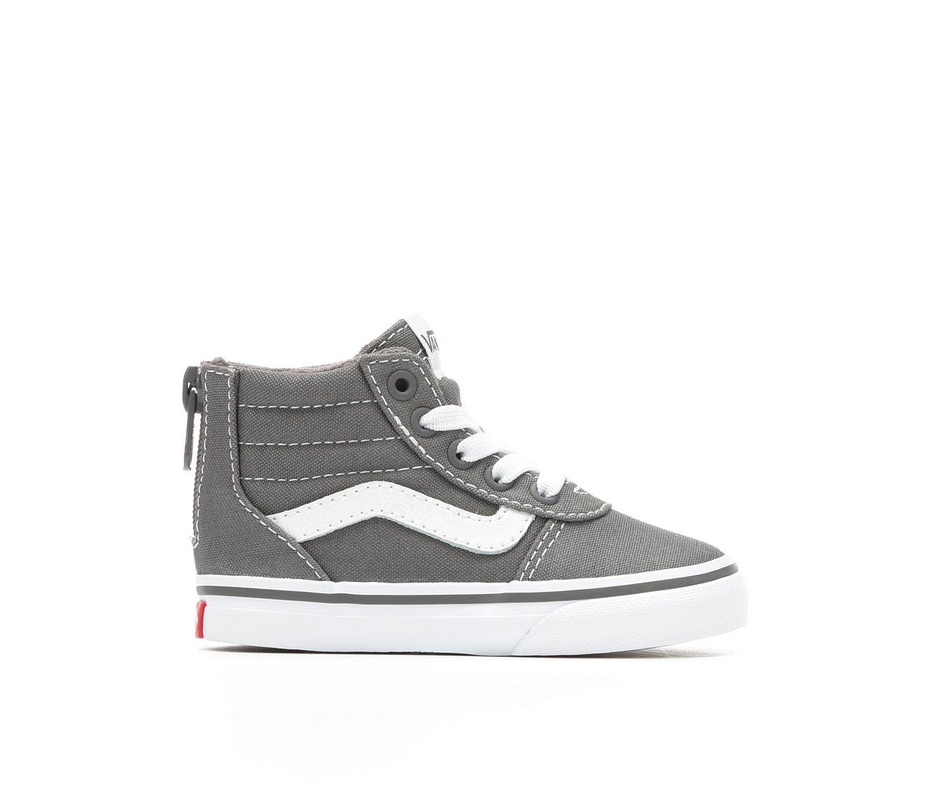 Girls' Vans Infants Ward Hi Zip Skate Shoes (Grey)
