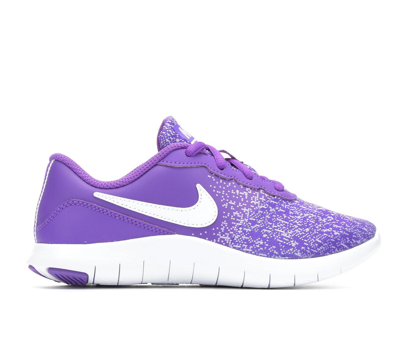 Girls' Nike Flex Contact Running Shoes (Purple)