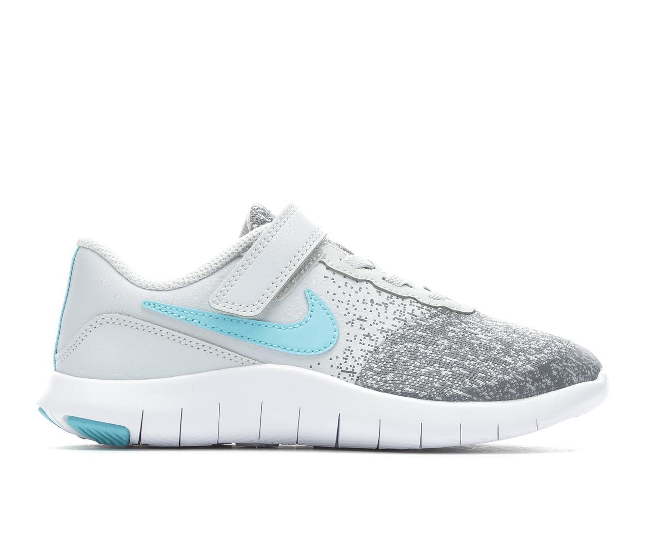 Girls' Nike Flex Contact Running Shoes (Grey)