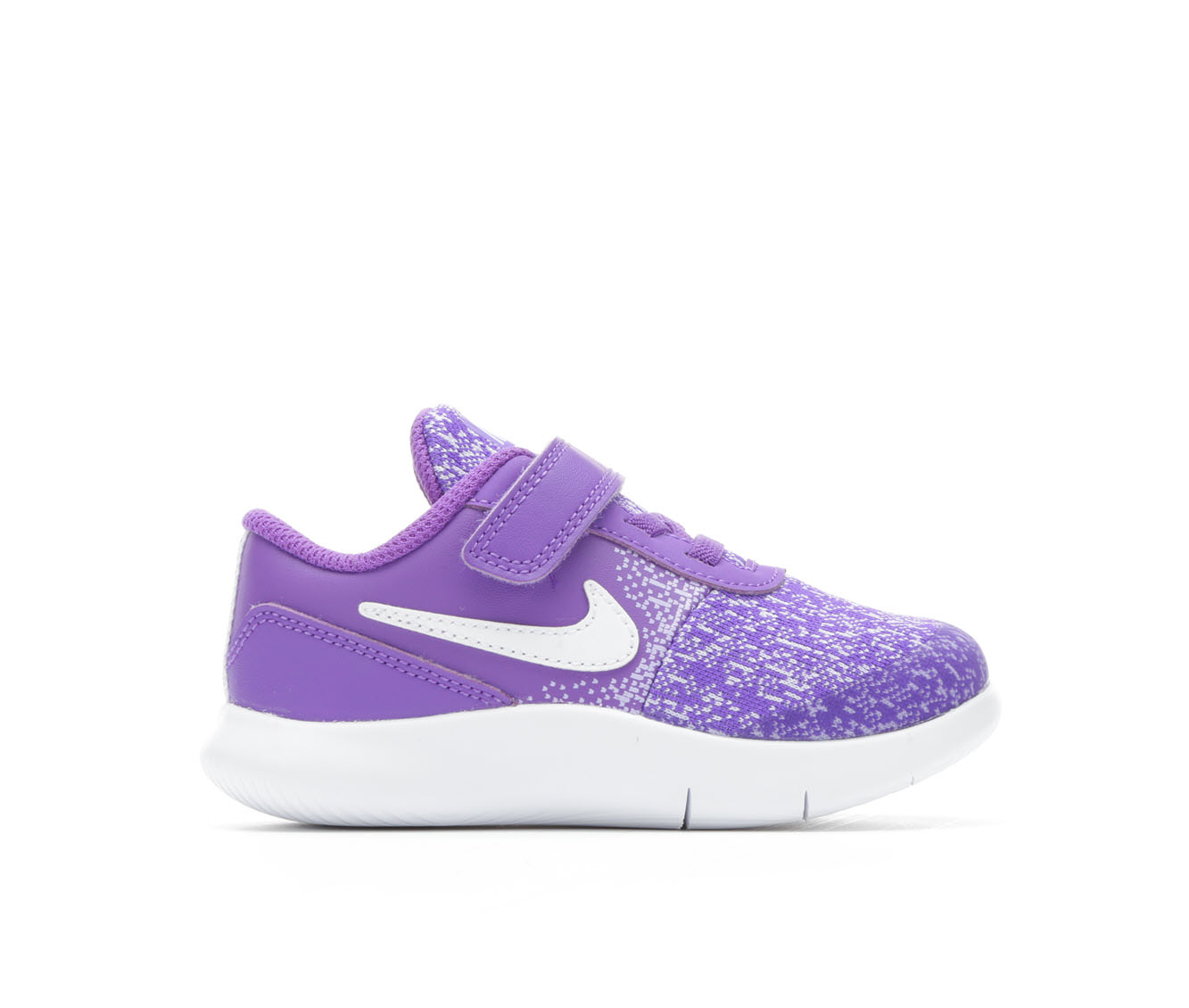 Girls' Nike Infant Flex Contact Velcro Running Shoes (Purple)