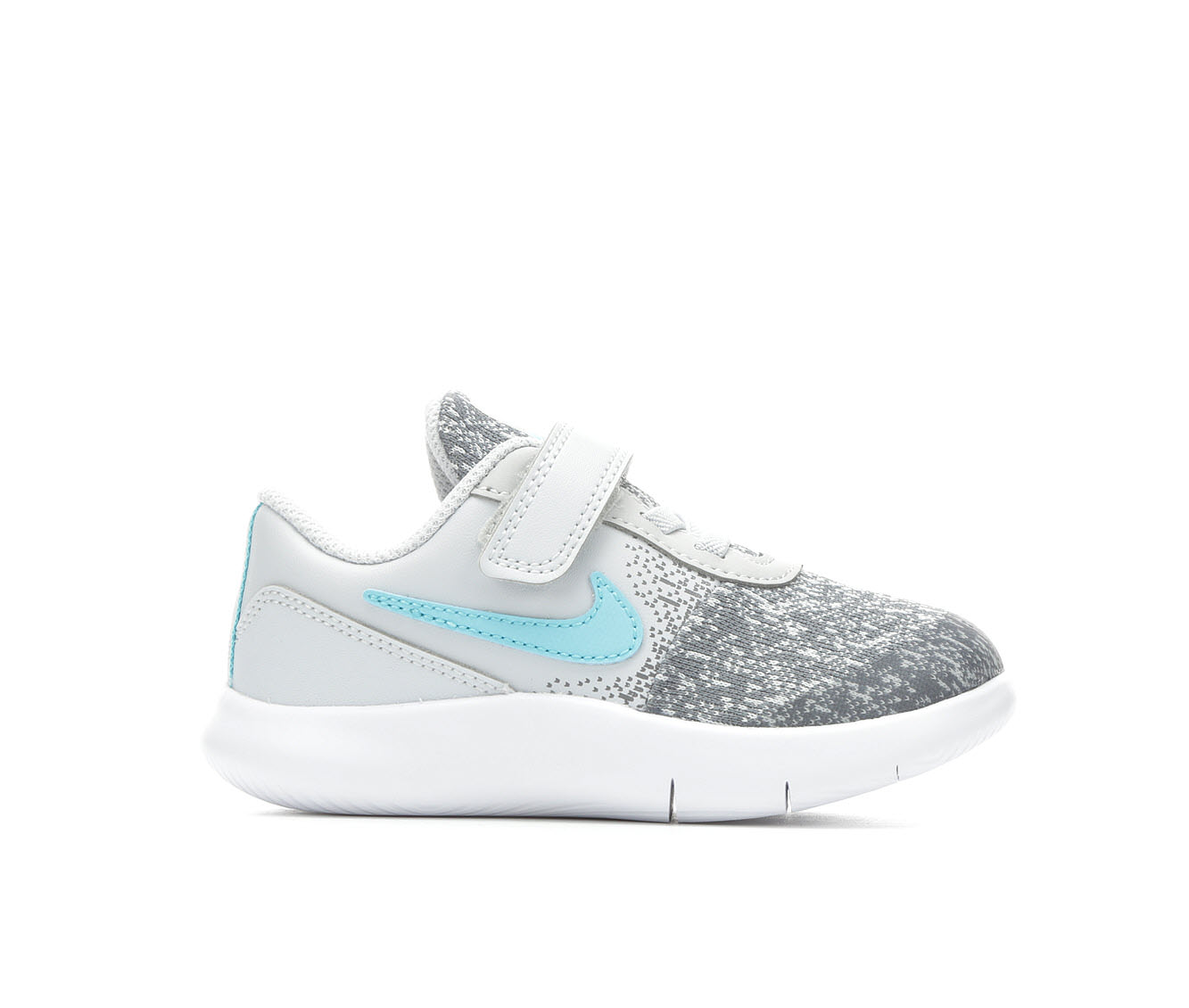 Girls' Nike Infant Flex Contact Velcro Running Shoes (Grey)