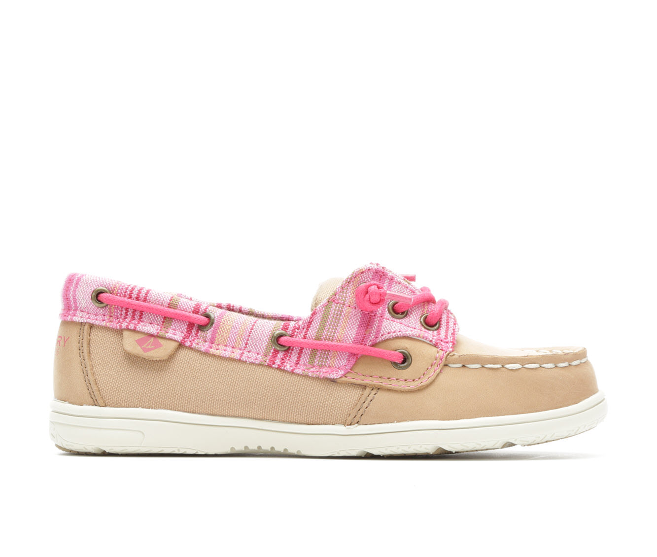 Girls' Sperry Shoresider Boat Shoes (Beige)