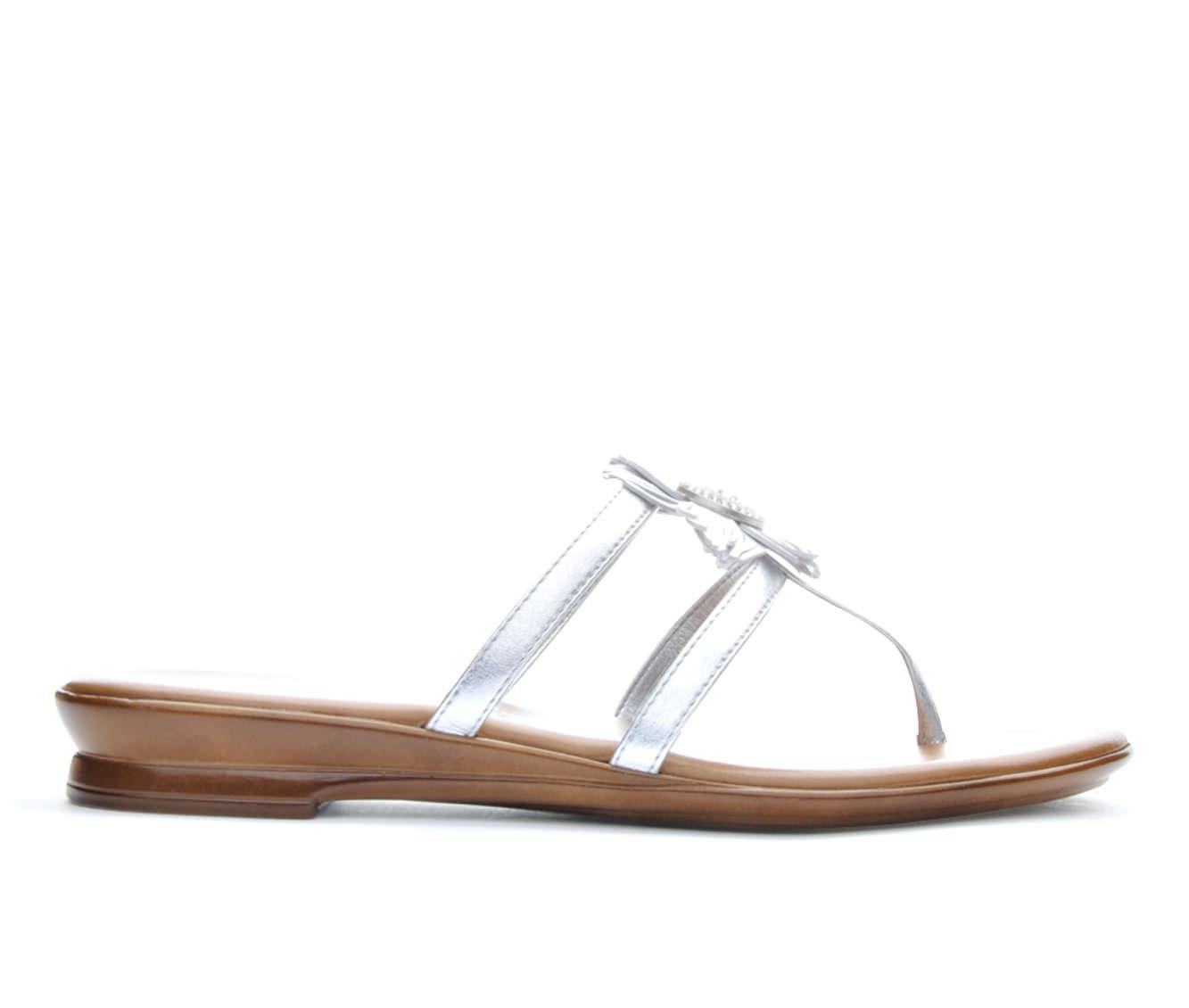 Women's Italian Shoemakers Lyn Sandals (Silver)
