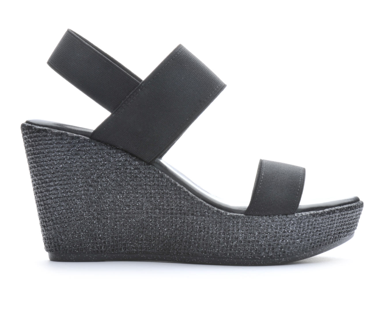 Women's Italian Shoemakers Nan Wedge Sandals (Black)