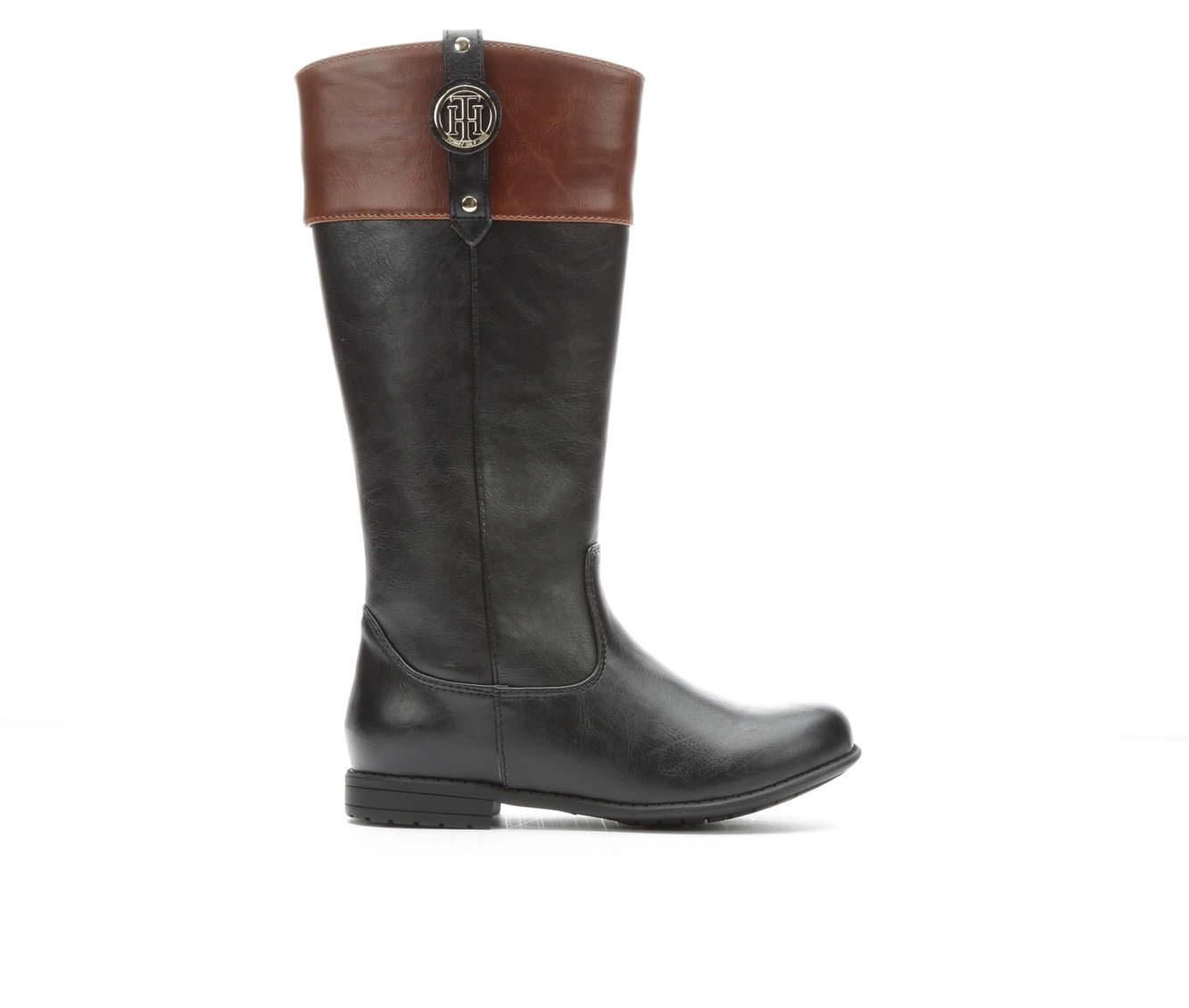 Girls' Tommy Hilfiger Andrea Nameplate Boots (Black)