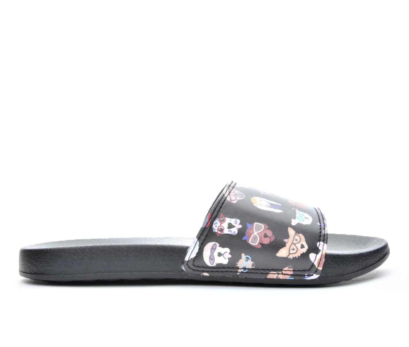 Women's BOBS Pups Smart Slide Sandals (Black)