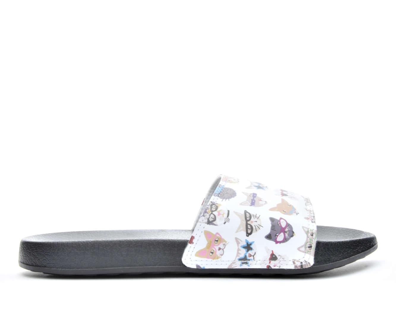 Women's BOBS Kitty Smart Slide Sandals (White)
