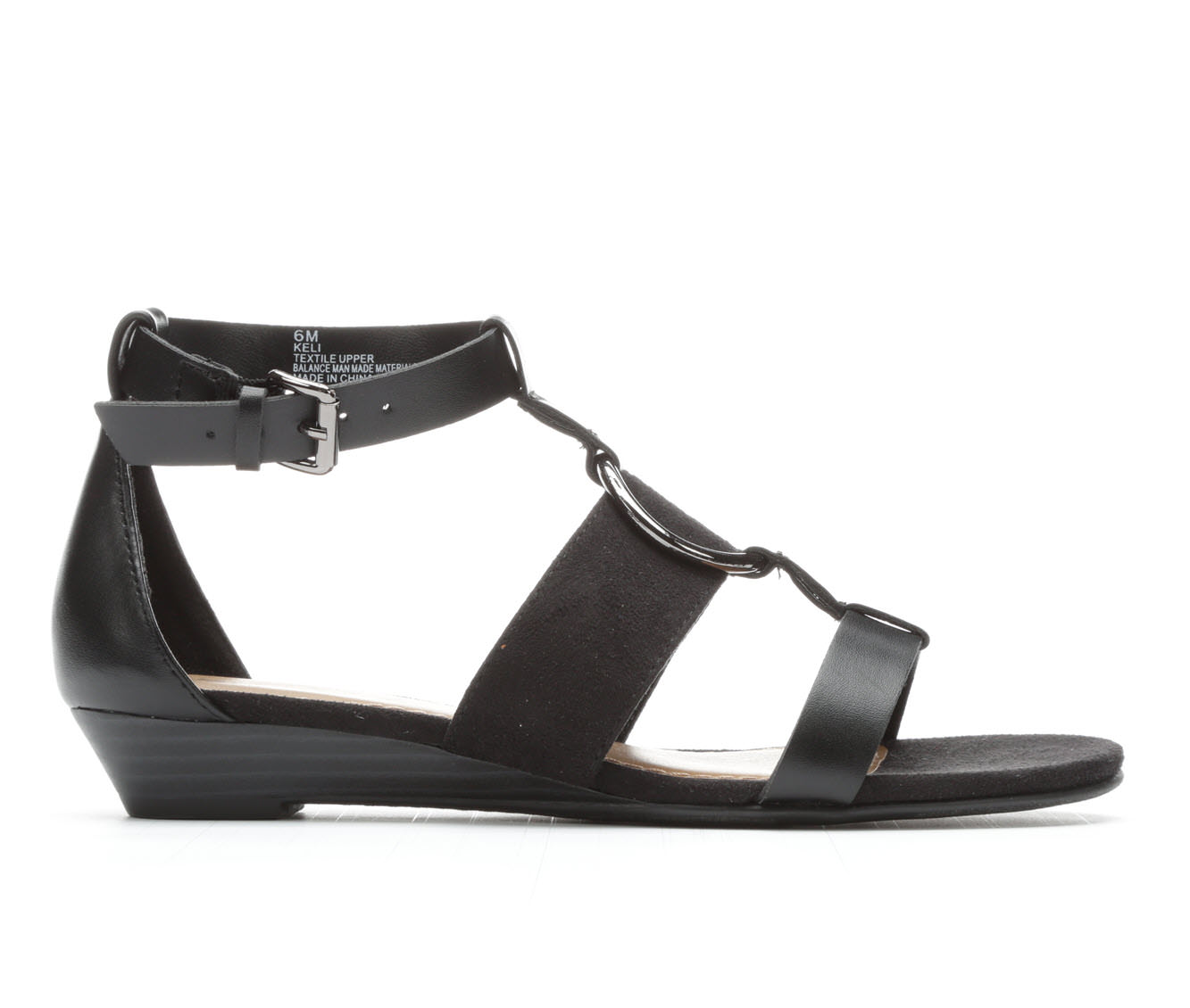 Women's Solanz Keli Wedge Sandals (Black)