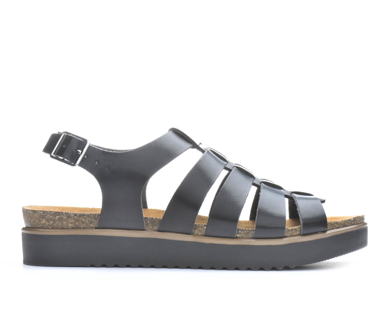 Women's London Underground Raven Sandals (Black)