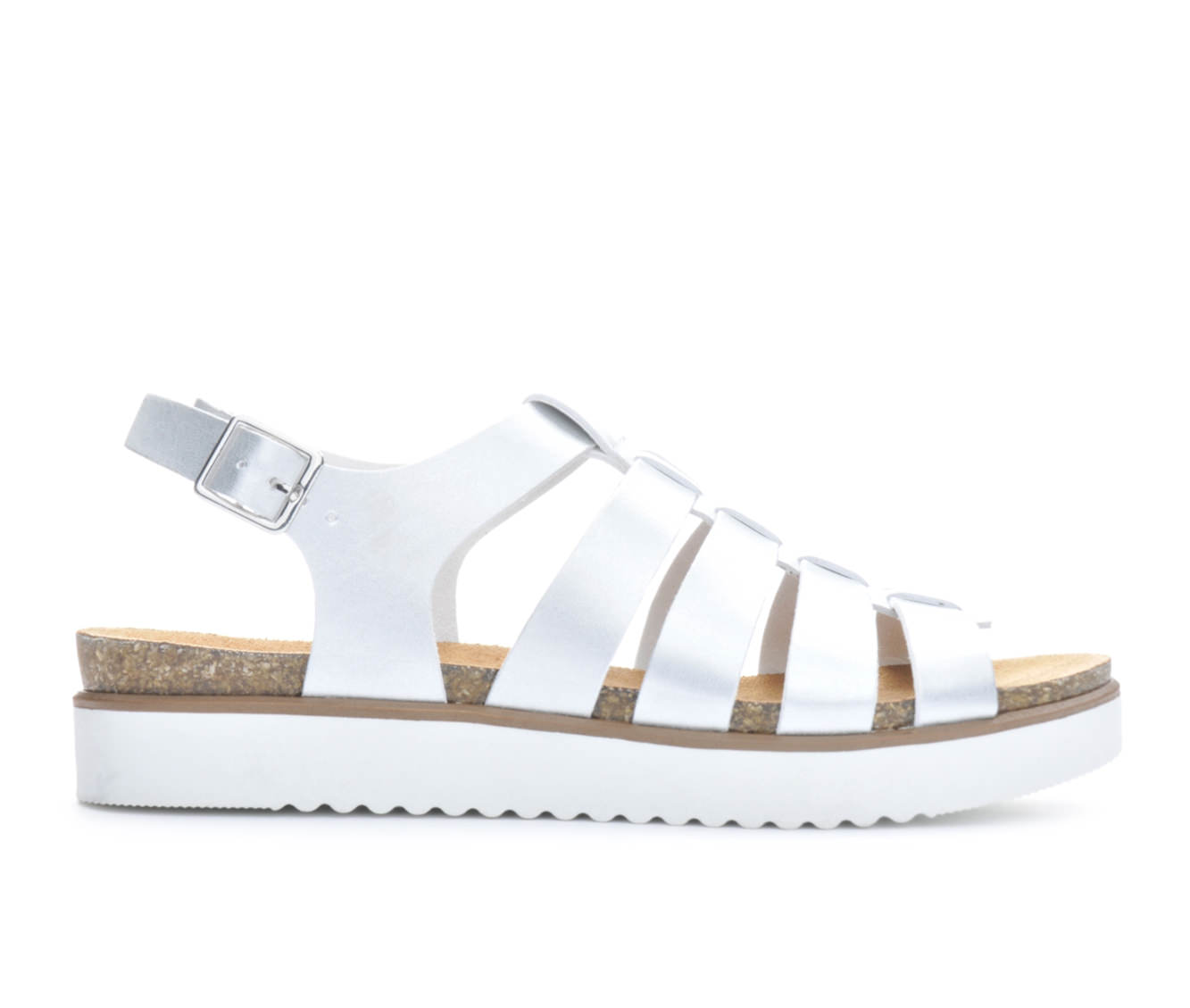 Women's London Underground Raven Sandals (Silver)