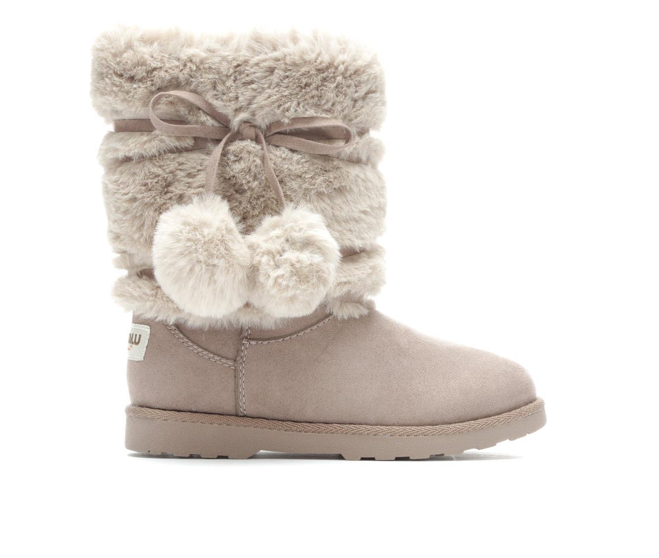 Girls' Makalu Cozy Land Boots (Grey)