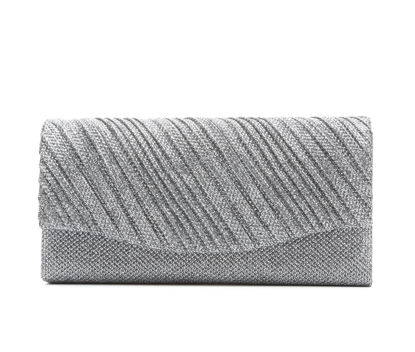 Image of Four Seasons Handbags Small Diagonal Stripe Clutch