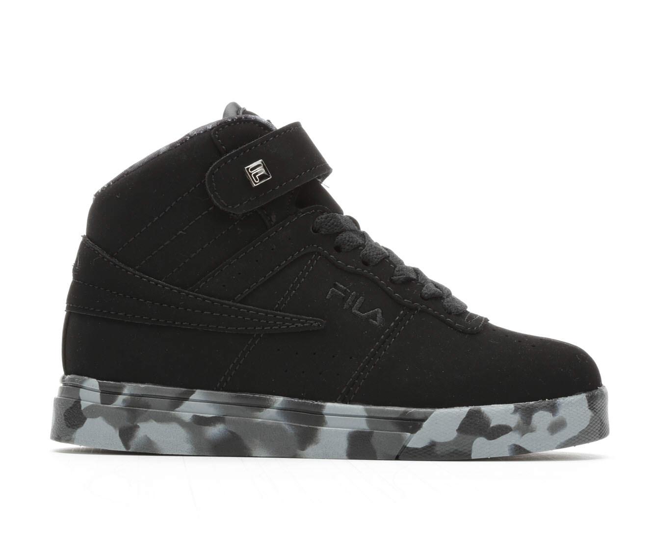 Boys' Fila Vulc 13 Mid Plus Mashup Basketball Shoes (Black)