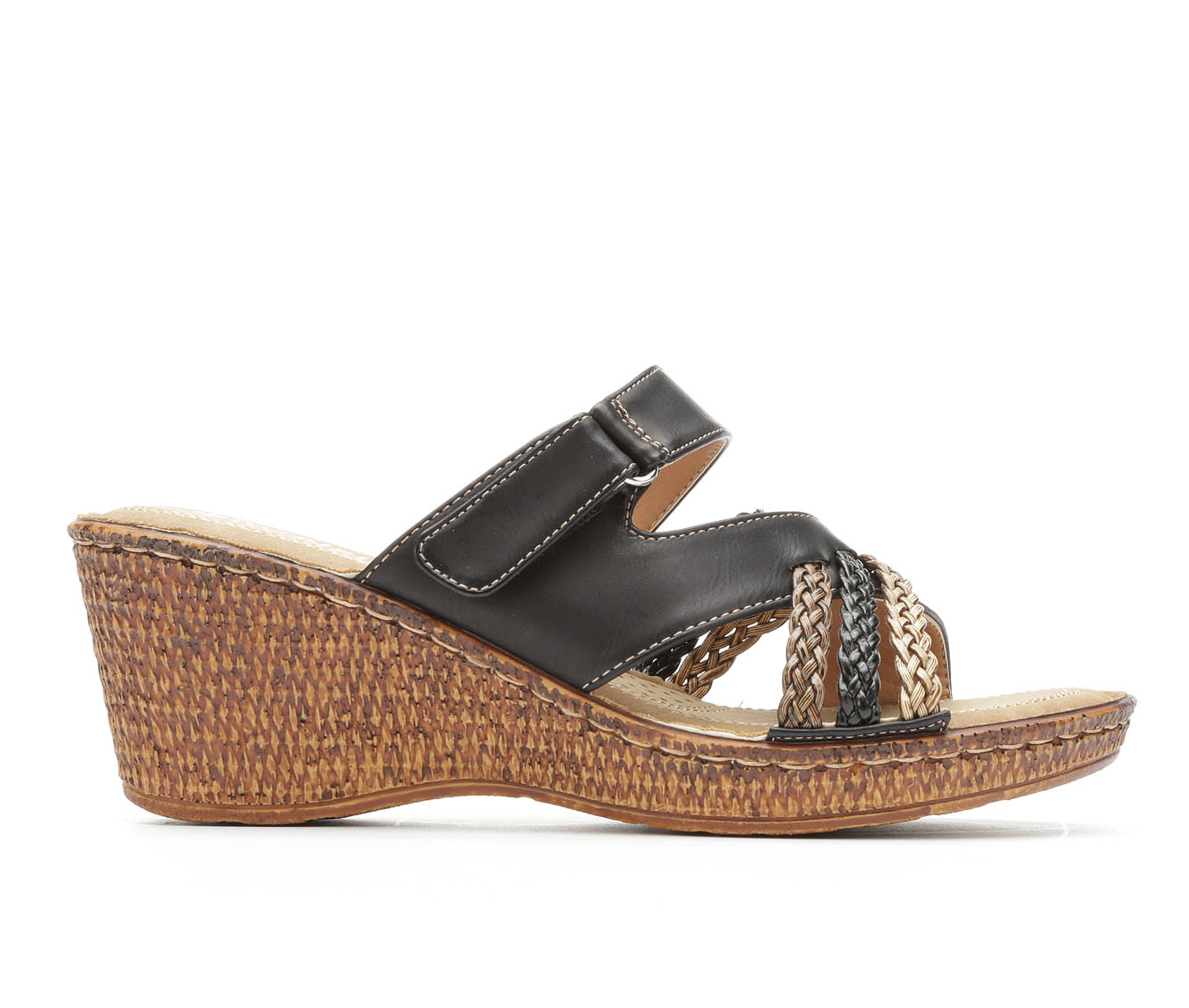 Women's Patrizia Mica Wedge Sandals (Black)