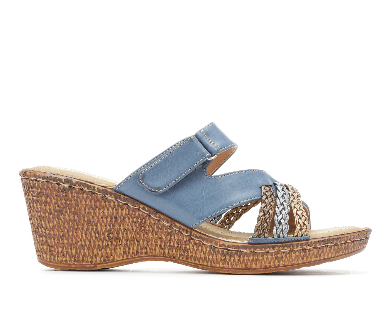 Women's Patrizia Mica Wedge Sandals (Blue)