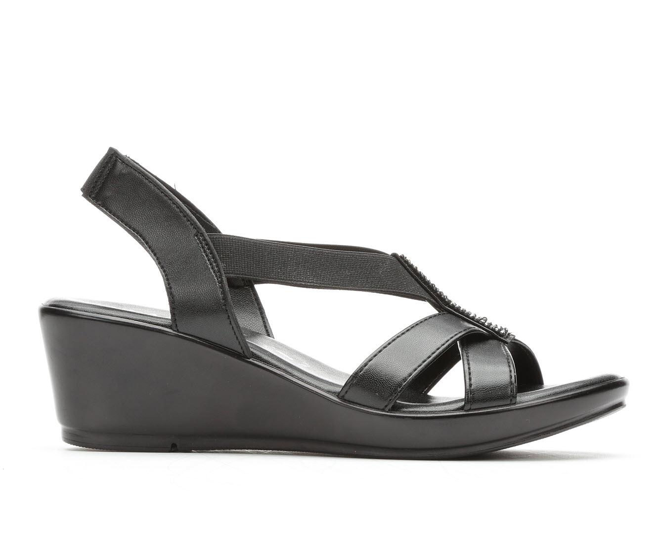 Women's Italian Shoemakers Seek Wedge Sandals (Black)