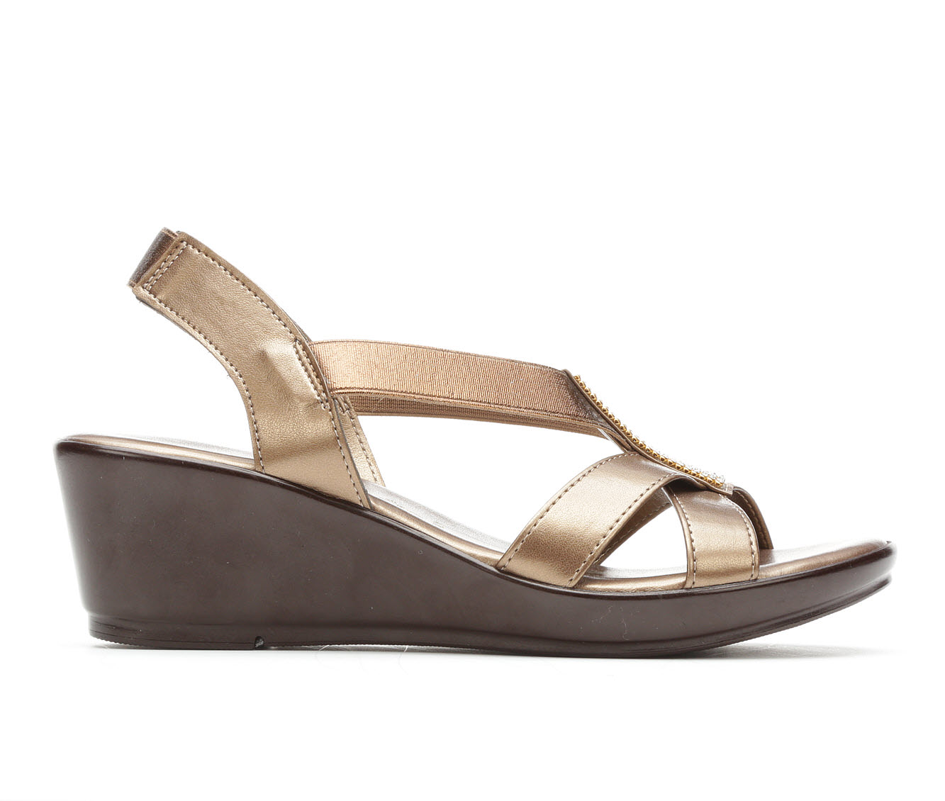 Women's Italian Shoemakers Seek Wedge Sandals (Brown)