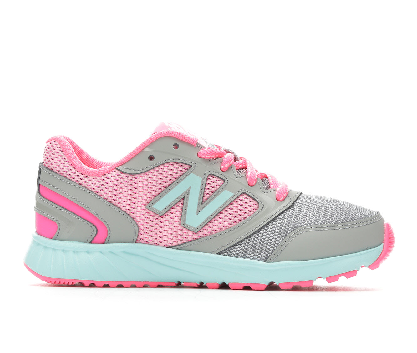 Girls' New Balance KR455GPY Running Shoes (Grey)