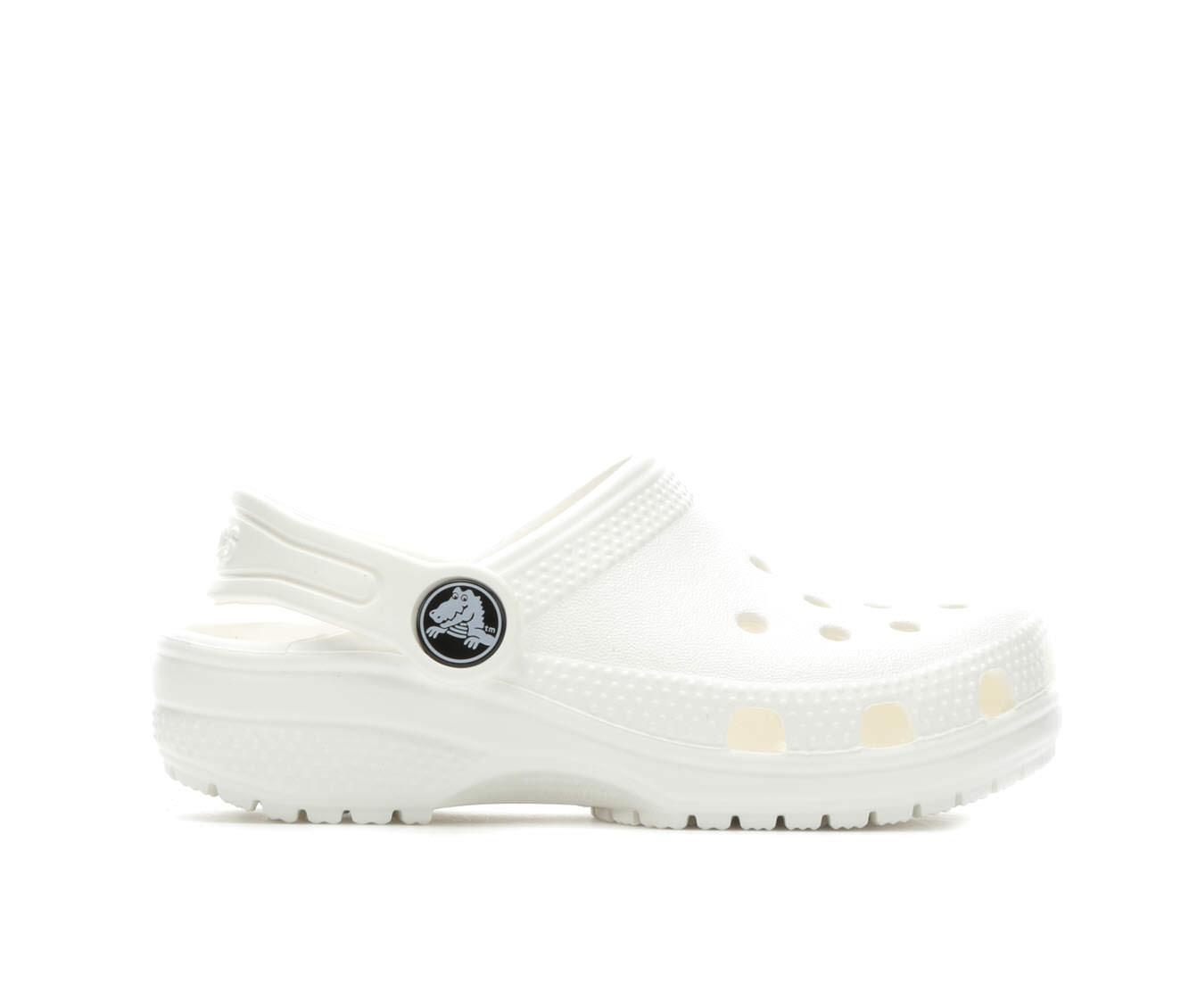 Girls' Crocs Classic Clog Children's Shoes (White)