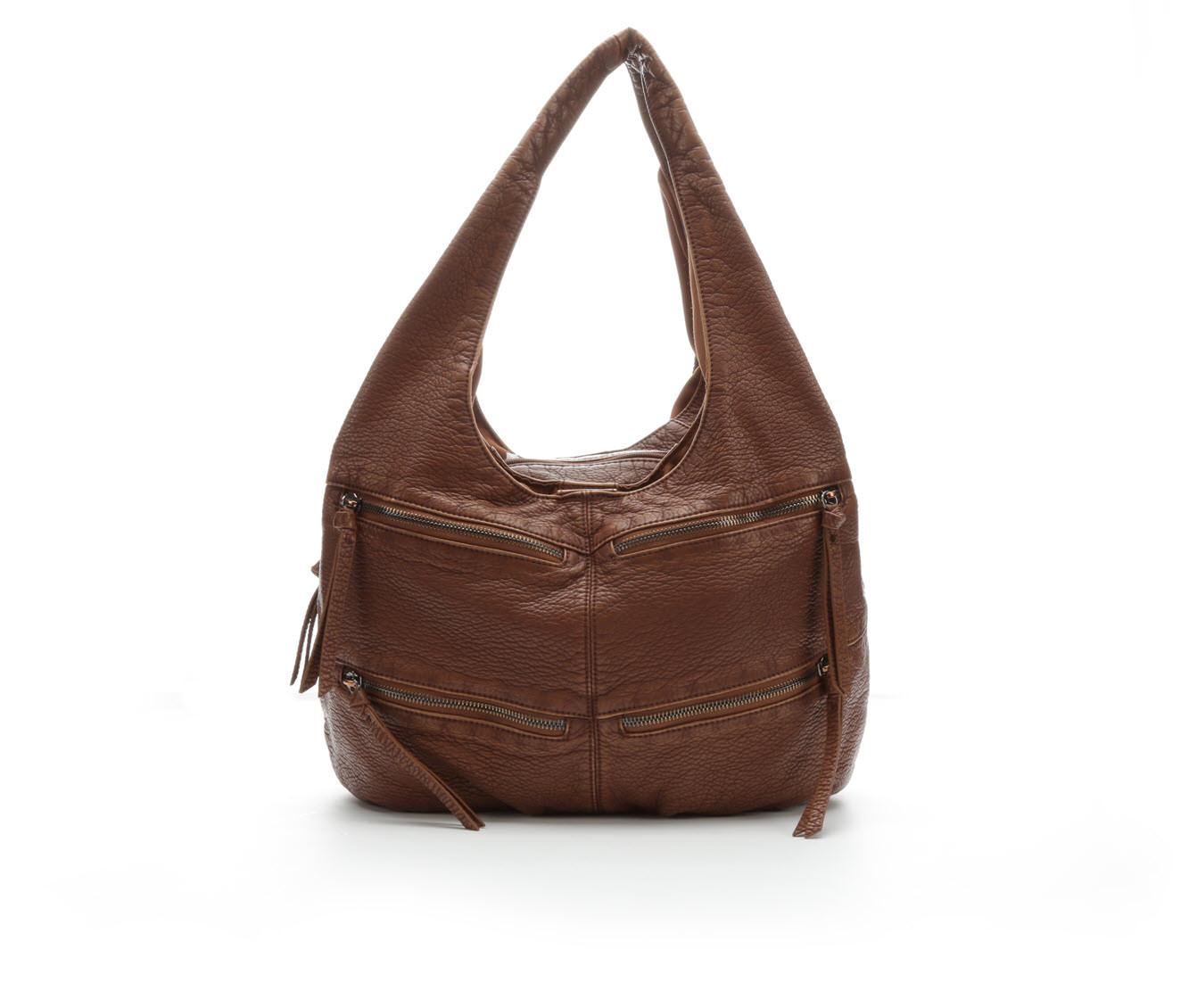Bueno Of California Porthole DH Hobo Handbag (Brown)