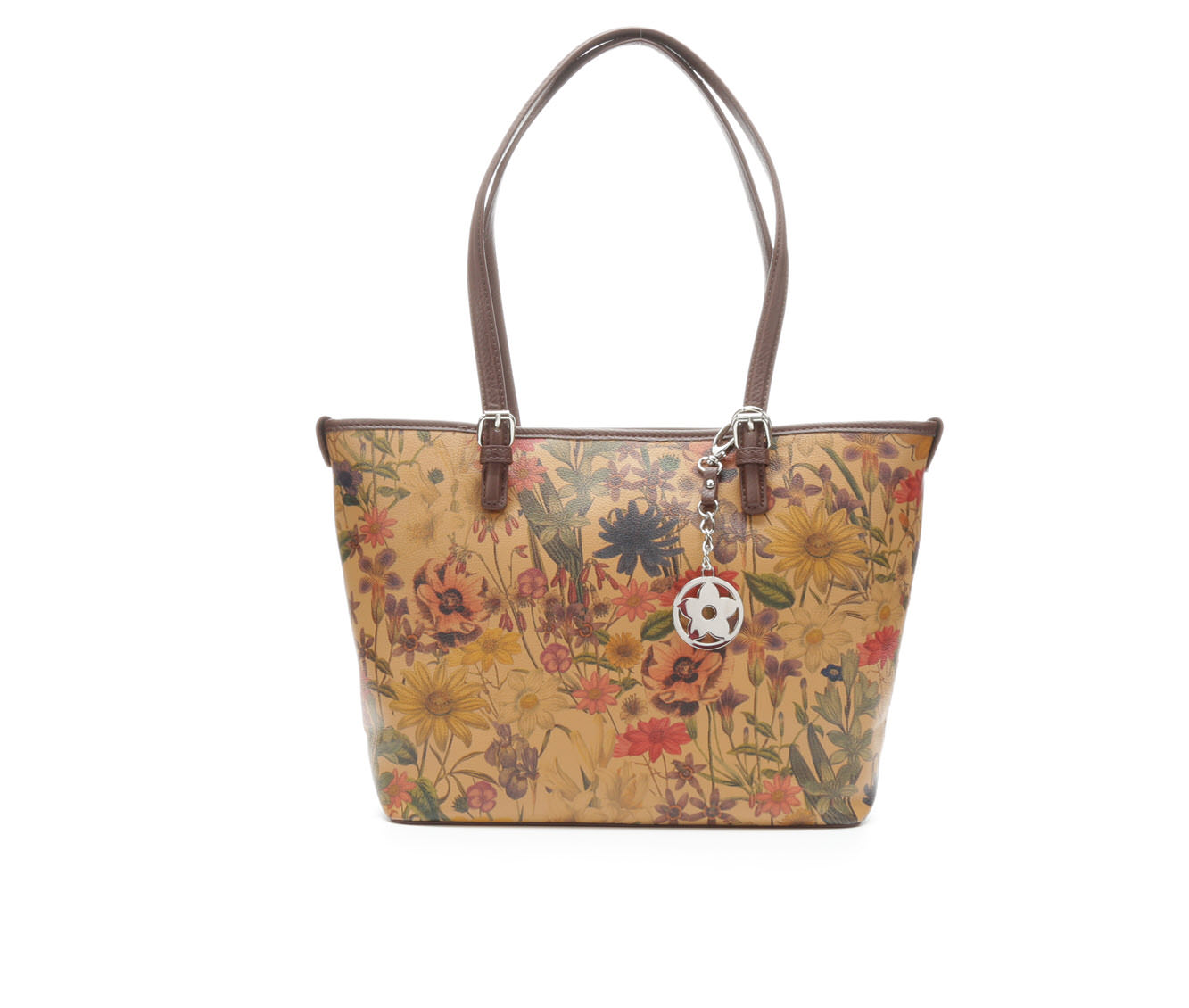 Bueno Of California Print Promo Tote Handbag (Brown)
