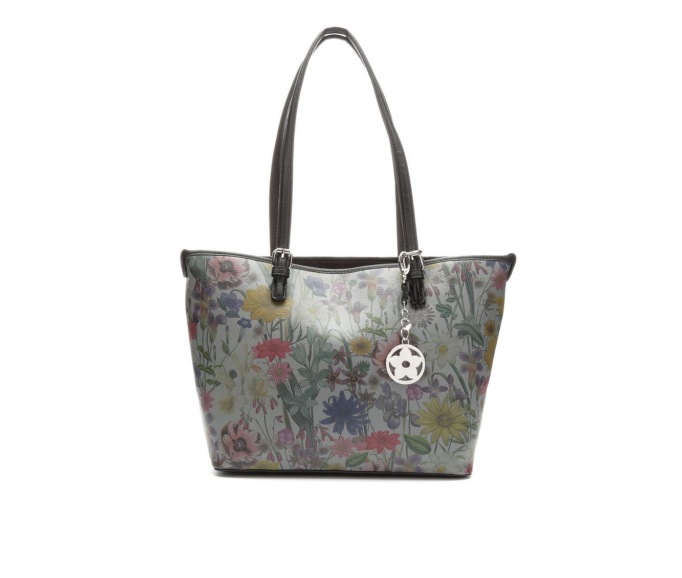 Bueno Of California Print Promo Tote Handbag (Grey)