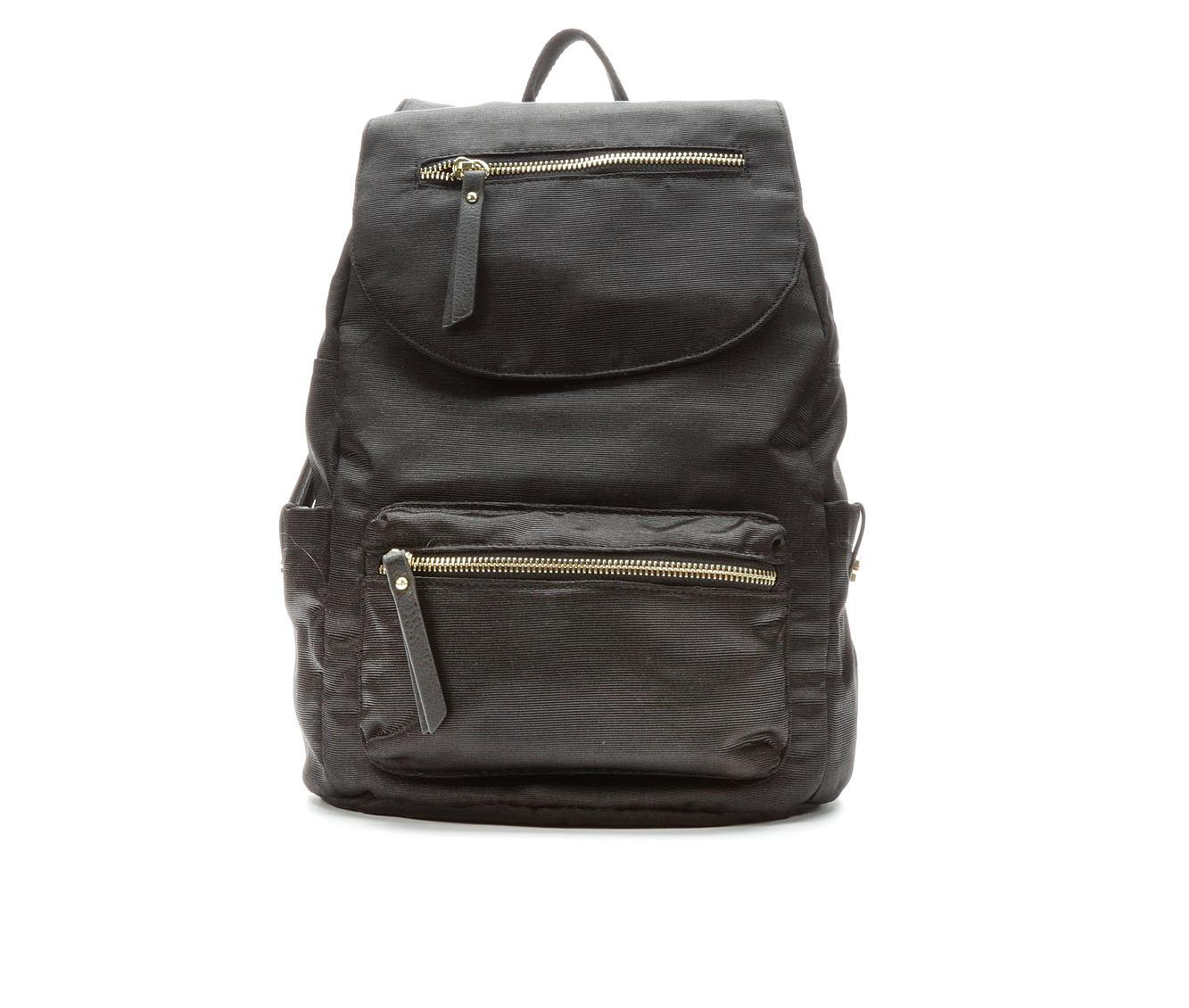 Madden Girl Handbags Proprg Grosgrain Backpack (Black)