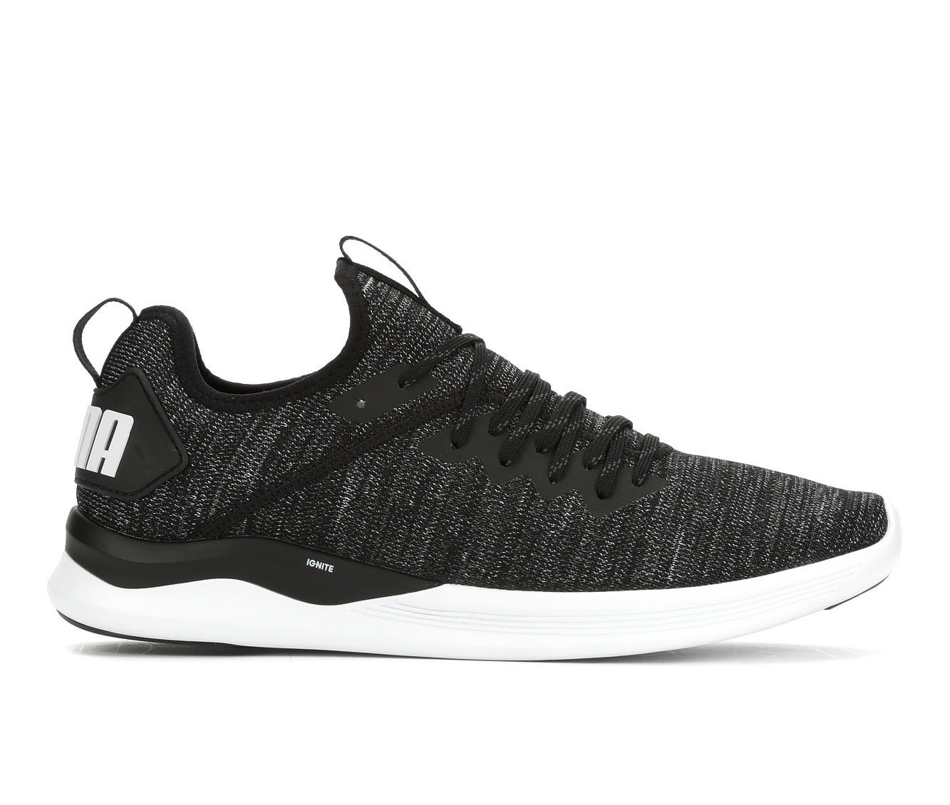 Men's Puma Ignite Flash Evoknit Sneakers (Black - Size 8) 1700590