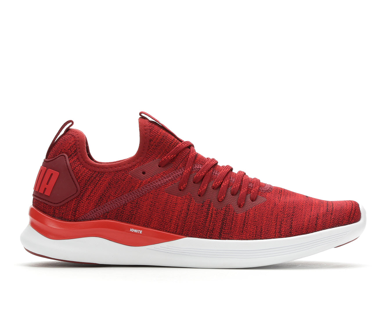 Men's Puma Ignite Flash Evoknit Sneakers (Red - Size 7) 1700601
