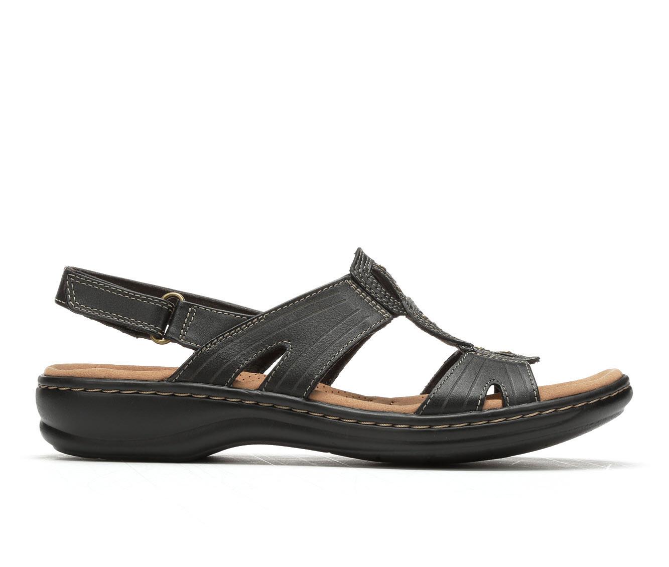 Women's Clarks Leisa Vine Sandals (Black)
